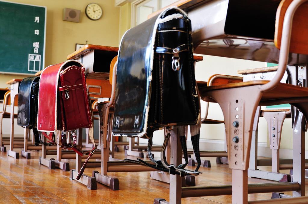 教室のランドセル