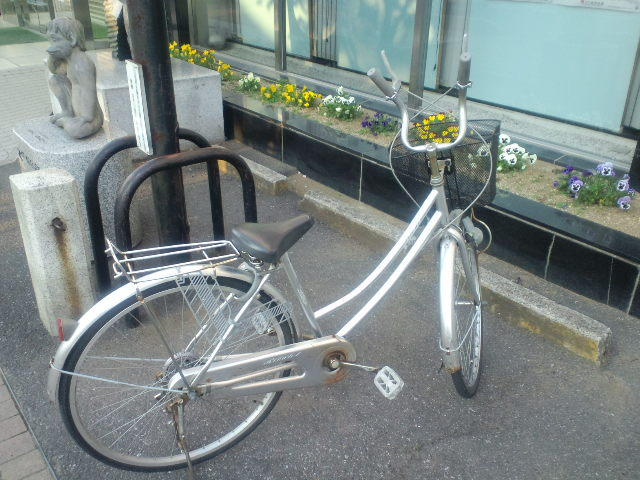 チョッパーハンドルの自転車
