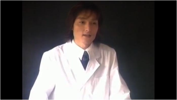 生徒に呼びかける中村先生