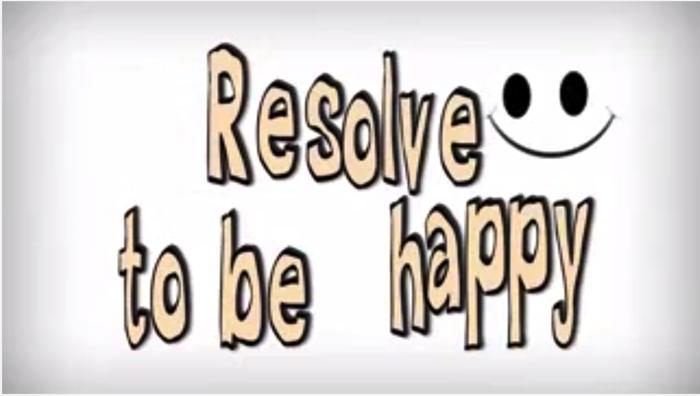 幸せになると決心すること