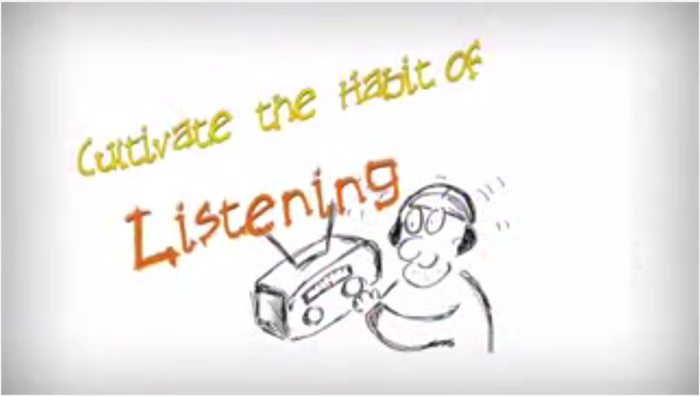 聞く習慣を身につけること