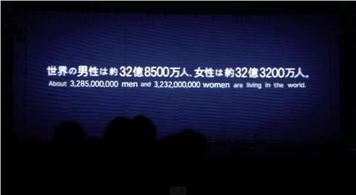 世界の男性は約32億8500万人、女性は約32億3200万人。
