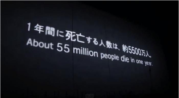 1年間に死亡する人数は、約5500万人。