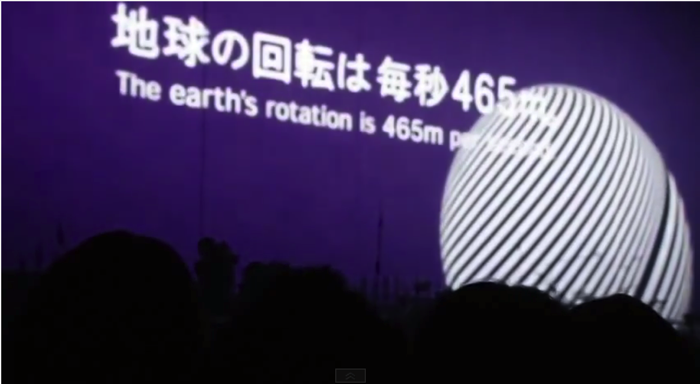 地球の回転は毎秒465m。