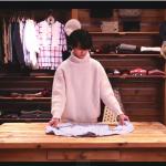 衣替えがしたくなる!ただひたすらキレイに服をたたんでいく女性のミュージックビデオ