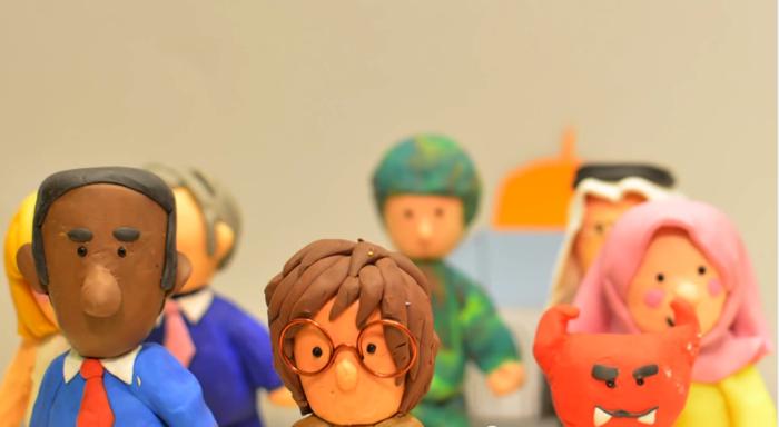 ジョン・レノン「imagine」のクレイアニメ7