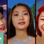 わずか2分で1人の女性が7人の「ディズニー・プリンセス」に変身していく動画