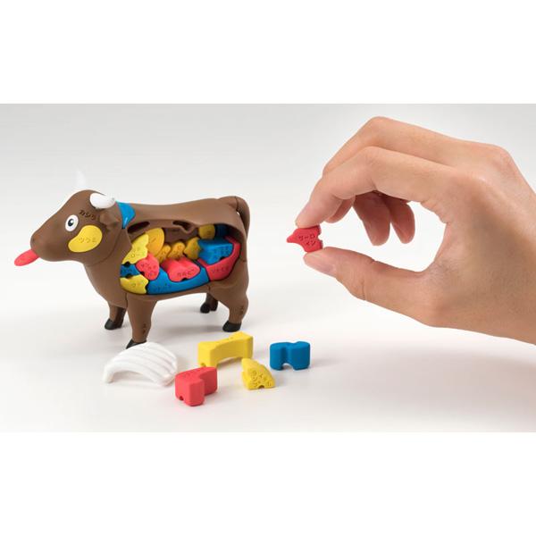 放課後の怪談シリーズ 理科室の模型復元パズル ウシ模型遊び方