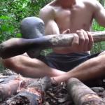 サバイバル生活の強い味方!自然にあるものだけで「石斧」をつくる方法