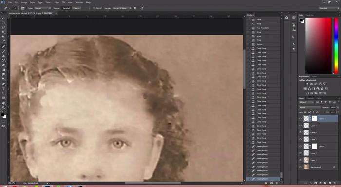 古い写真の肖像画修復3