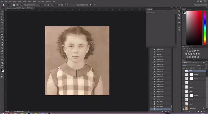 古い写真の肖像画修復5
