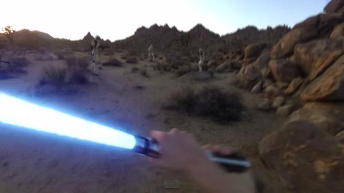 GoProでスターウォーズの世界を表現1