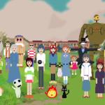 共演することないジブリキャラクターたちが8ビットの世界で大集合するピクセルアート