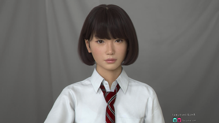 3DCGキャラクター「Saya」