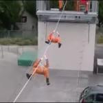 現代に生きる忍者!日本の消防士がみせる驚愕の訓練映像が神業すぎる
