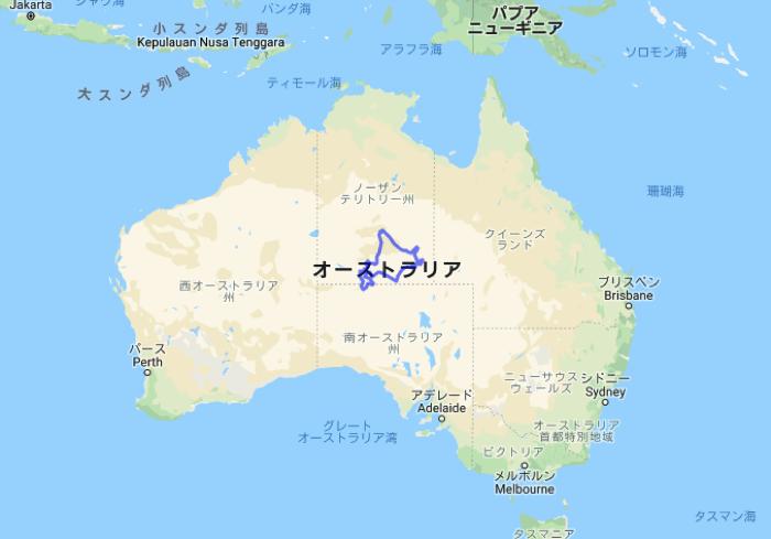 北海道とオーストラリアの大きさ比較