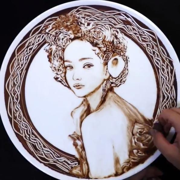 安室奈美恵さんチョコアート