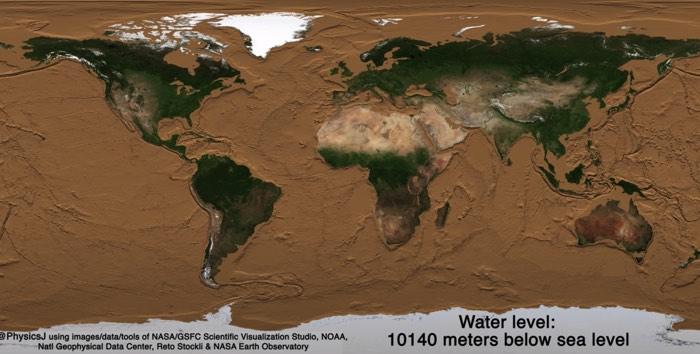地球の海の水を抜く