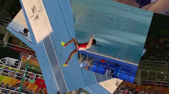 五輪競技をシームレスにつなげた動画