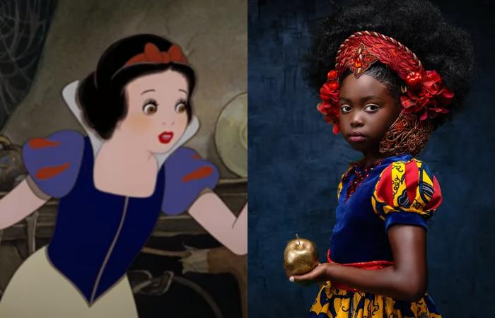 黒人の女の子がディズニープリンセスに