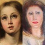家具修理業者が貴重な聖母マリアの絵画の修復に大失敗、見るも無残な姿に