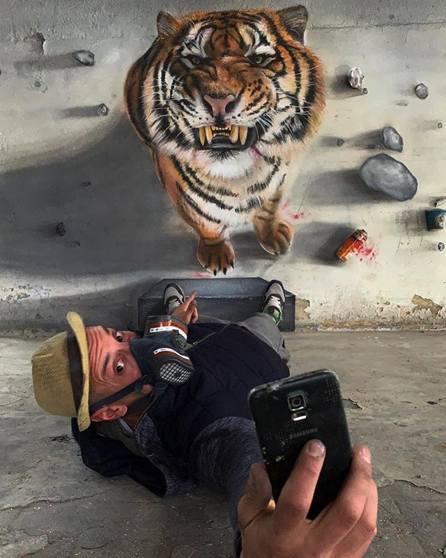 SCAFのリアルすぎるストリートアート