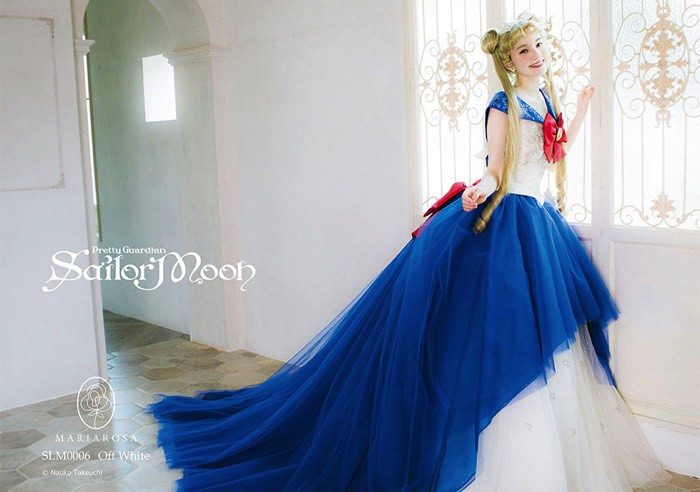 セーラームーンのウェディングドレス